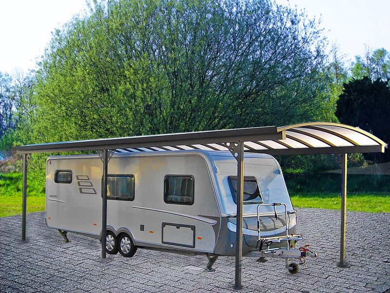 carport wohnwagen affordable myport grocarport in. Black Bedroom Furniture Sets. Home Design Ideas
